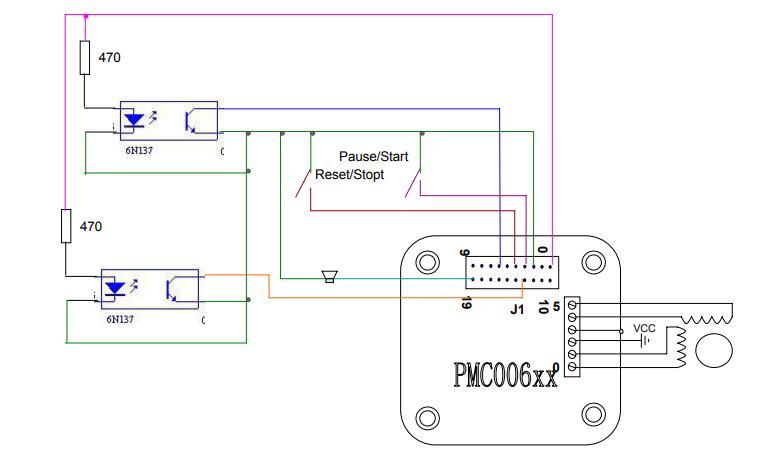 步进电机驱动器控制柱塞泵系统连接简图