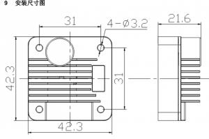 谱思步进电机驱动器尺寸图