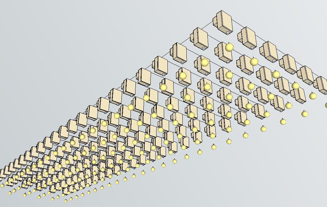 一体化步进电机浮球矩阵应用