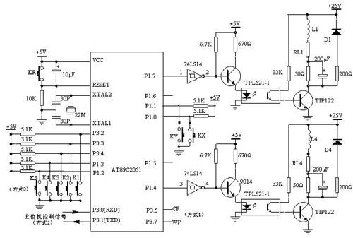图3 步进电机驱动器系统电路原理图