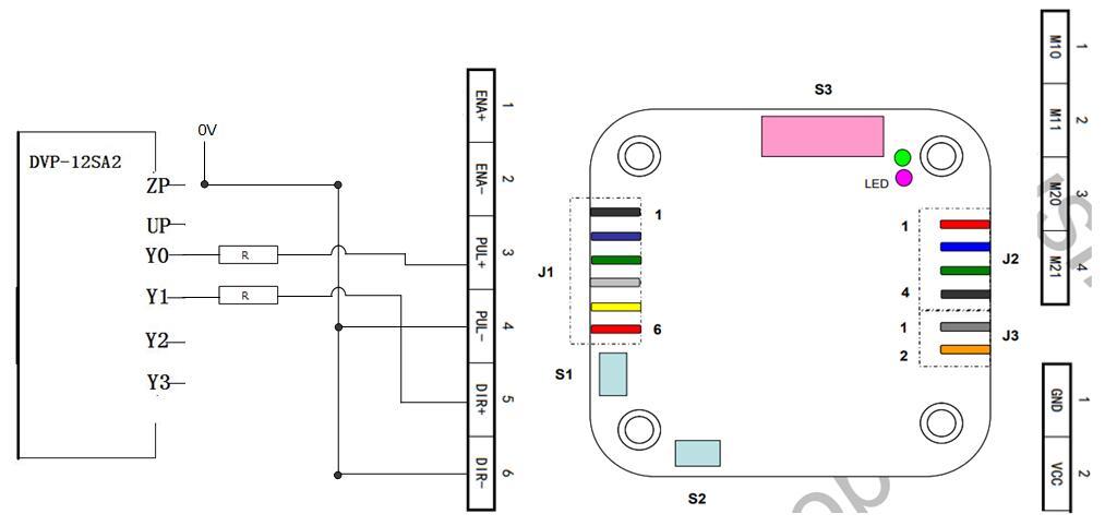 PMD006P2驱动器与PLC的接线图