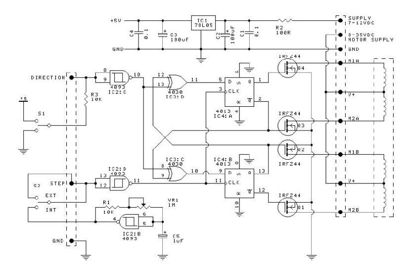 步进电机驱动器内部区块图