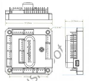 多轴步进电机控制器尺寸图