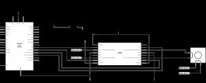 图5连接到H桥和Arduino的双极步进电机的示意图