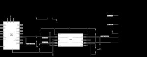 图7.单极步进电机的示意图,连接到H桥和Arduino,采用双线配置